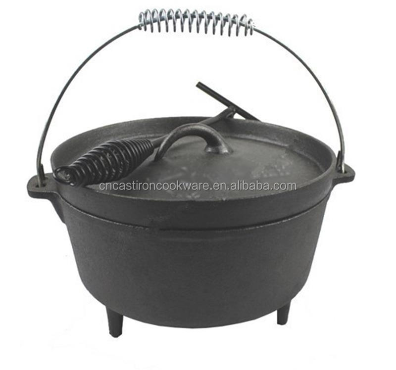 Wholesale Preseasoned Outdoor Camping Cast Iron Dutch Oven
