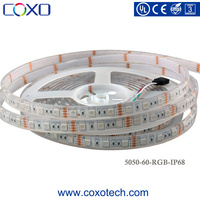 Hot Sale DC 12V SMD 5050 Outdoor Waterproof IP68 RGB Flexible LED Strip