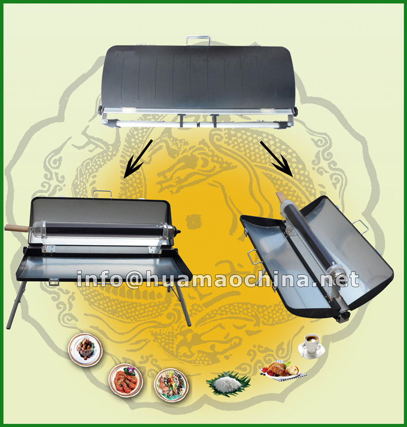 outdoor solar cooking stove barbecue grill
