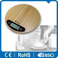 round bamboo kitchen scale touch switch curves machine