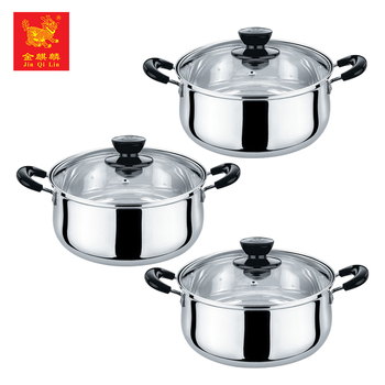 china manufacturer cookware bakelite stainless steel soup pot with holder