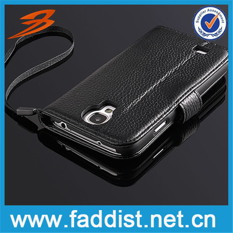 Alibaba China genuine leather cell phone case for Samsung Galaxy S4