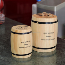 High quality wooden coffee barrels for sale