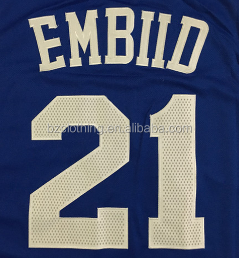 Philadelphia Joel Embiid #21 Blue Stitched National Basketball Jersey