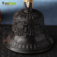 Decorative Large Patina Antique Bronze Temple Bell