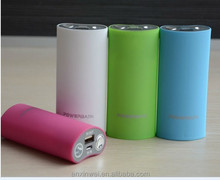 Mobile Power bank 5200mAh battery power bank charger with LED light