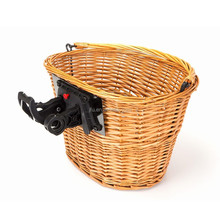 Eco-friendly Natural Color Wicker bicycle basket use for mountain bike