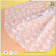 YJC belgium wholesale stores in china champagne lace fabric