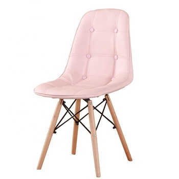 Comfortable Fabric new cotton Beech wood leg leisure chair