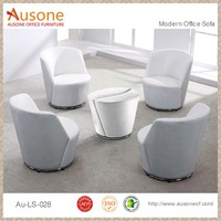 Attractive Design Round PU/Genuine Lounge Chair