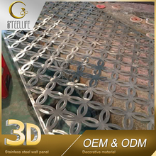 Building Materials Golden 3D Stainless Steel Metal Partition