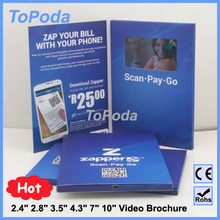 2015 LCD Business gift card, lcd screen marketing Video greeting card