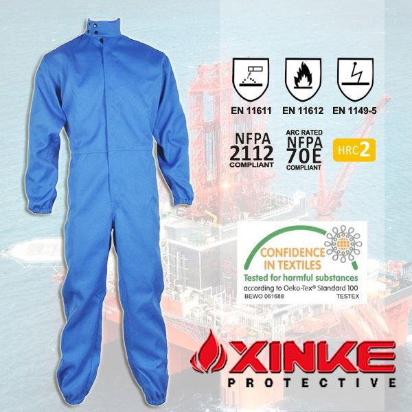 fire resistant mining safety wear for workers