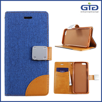 [GGIT] Jeans Flip Cover Wallet Case for iPhone 6 with Megnetic