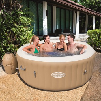 Bestway 54129 Inflatable portable 6 -person air bubble massage hot tub spa