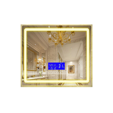 75*<strong>120</strong> cm defogging illuminated touch control digital clock bluetooth smart LED mirror for bathroom washingroom vanity makeup