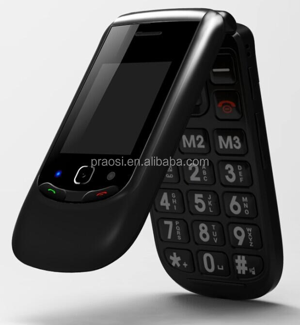 china manufacturer big keyboard flip mobile phone for elderly gsm handphone