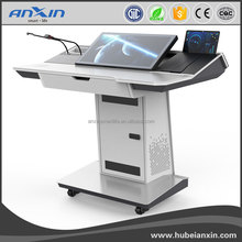 ANXIN 23.8inch Multimedia Interactive Podium for conference room/school/educational equipment