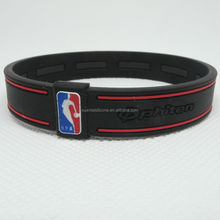 Factory supply black&red silicone bracelet thin silicone wristband sportsman basketball lovely people