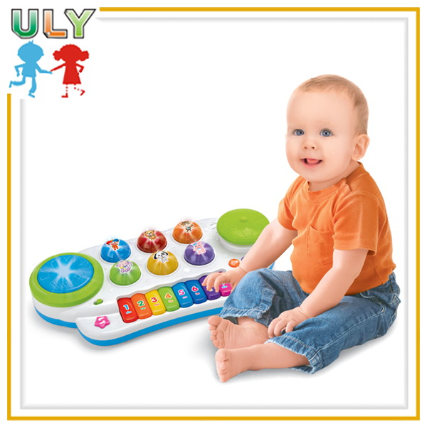 Kids Musical Toys Educational Hand Drum Electronic Cartoon Animal Organ