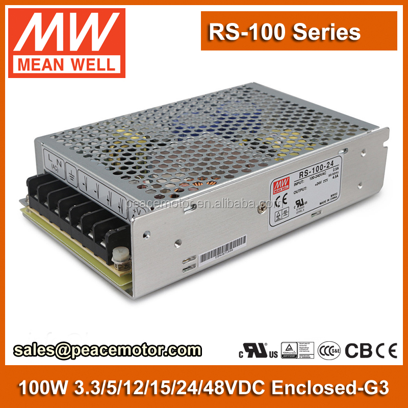 100W Power Supply 5v 1a smps Meanwell RS-100-5 230V to 5V DC Power Supply