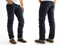 Mens Carbon Original Raw Red Japanese Selvedge Denim Jeans