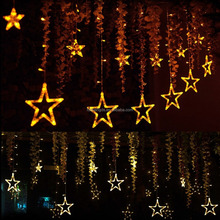 2m/6.6ft 138 LEDs 8 Flashing Modes indoor fairy lights decoration led twinkling stars led curtain lights