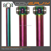 titanium seat post bicycle seat tube anodized colors seatposts