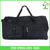 "36"" Rolling foldable trolley travel bag, travel bag trolley luggage with 2 front pockets"