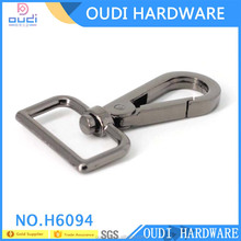wholesale Black Nickel zinc alloy metal swivel snap hook for handbags