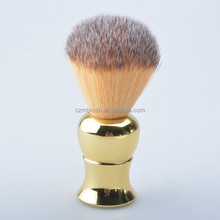 High Quality Synthetic Hair Shaving <strong>Brush</strong> with Golden Plastic Handle