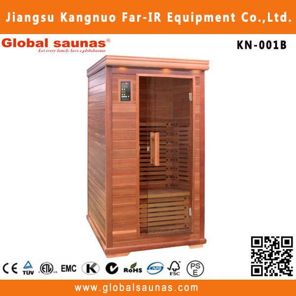 individual wooden mini human sauna for 1 person