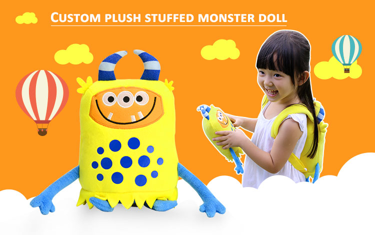 Shenzhen toy factory custom stuffed plush monster soft doll