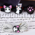 Earphone Headphone Cable Organizer Cute Cat Plastic Cable Winder Cable Holder Headphone Earphone Organizer Wire Holder