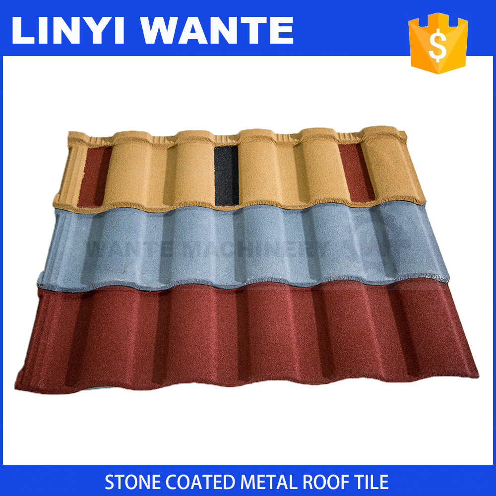 Economic and Reliable roman metal stone coated roof house construction finishing material popular in European market