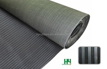 wide & fine ribbed rubber sheet- roll / HYRUBBERS produced anti-slip rubber mat / rubber floor