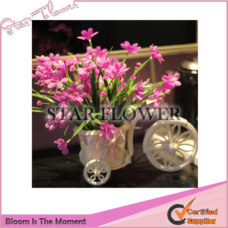 2017 New Product SF2017065 Artificial Silk artificial wedding decoration orchid <strong>flower</strong>