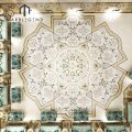 prefab palatial flooring waterjet tile marble medallion designs decorate Arabic majlis for sale