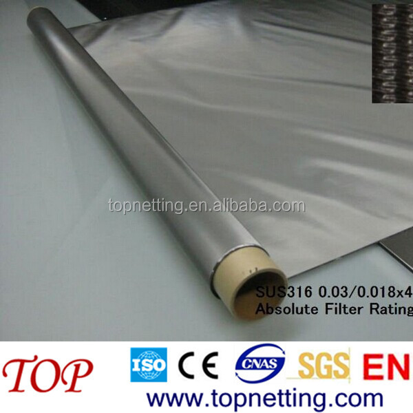 Ultra Fine Stainless Steel Metal Mesh Fabric