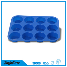 LFGB,FDA,SGS Certification and Cake Tools Type Silicone Mini Muffin pan Cupcake Liners 12 pack