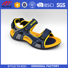 Summer beach leisure sandals high quality mens boys leather sandal shoes make in china
