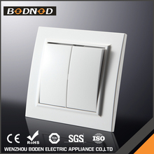 Fire Proof PC Panel european 2 Gang 1-way wall switch