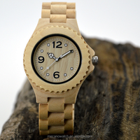 2016 fashion natural product MECANO brand wooden bamboo wrist watch for men and women