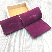 Purple Flap Velvet Jewelry Gift Envelope Pouch Bag