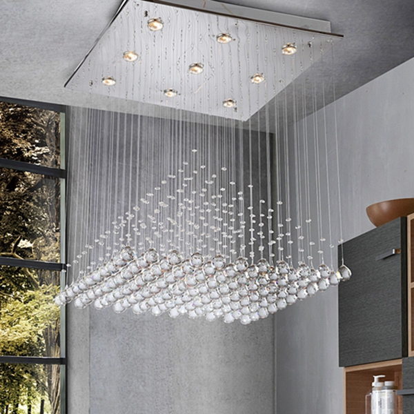 contemporary modern indoor crystal ceiling lamps for home