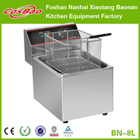 Stainless Steel Kitchen Equipment Electric Deep Fryer For French Frier BN-8L