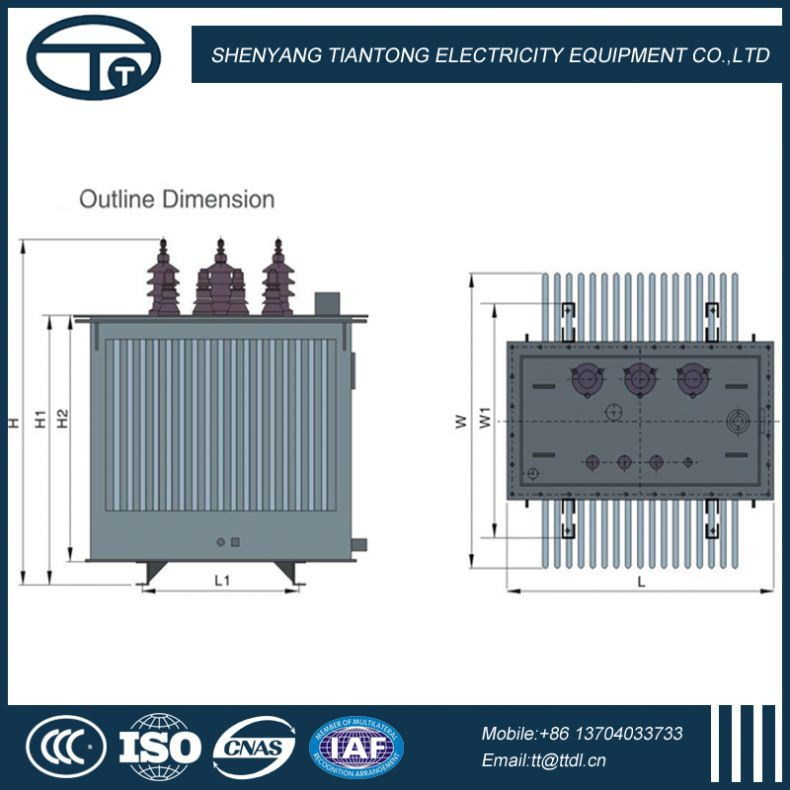 11KV High Quality Low Losses Manufacturer power transformer drawing