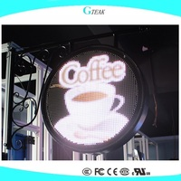 p8 full color outdoor led billboard price for the coffee shop advertising