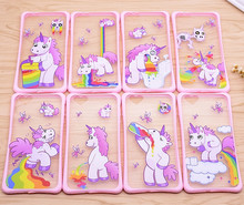 High Proctective TPU Cover Plastic Bumper 2in1 Hybrid Case for iPhone 6S,animal unicorn PC hard mobile phone case cover