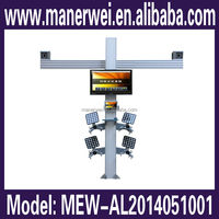 New launch factory price support computer window 8 system visual 3d four wheel alignment
